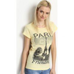 Bluzki, topy, tuniki: Żółty T-shirt Befriend