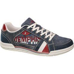 Półbuty męskie Memphis One niebieskie. Niebieskie półbuty męskie Memphis One, z jeansu. Za 99,90 zł.