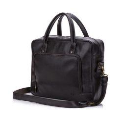 Męska torba na laptopa Solier TYSON brązowa. Brązowe torby na ramię męskie marki Solier, w paski. Za 199,00 zł.