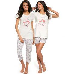 Piżamy damskie: Trzyczęściwy damski komplet piżamowy Flaming
