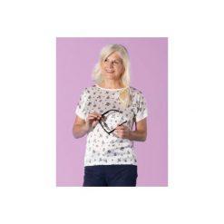 Bluzka damska casual luźna we wzory. Różowe bluzki asymetryczne TXM, casualowe. Za 24,99 zł.
