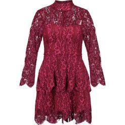 Sukienki: Missguided HIGH NECK LAYERED FRILL MINI DRESS Sukienka koktajlowa raspberry