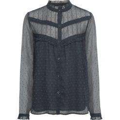 Bluzka z koronką bonprix ciemnoszary. Szare bluzki koronkowe marki bonprix, eleganckie. Za 49,99 zł.
