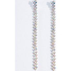 Kolczyki damskie: Długie kolczyki z kryształkami - Wielobarwn