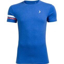 T-shirt męski TSM615 - niebieski melanż - Outhorn. Niebieskie t-shirty męskie Outhorn, na lato, m, melanż, z bawełny. W wyprzedaży za 24,99 zł.