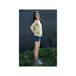 Topy damskie: Top Dziewczyna Surfera cytrynowy