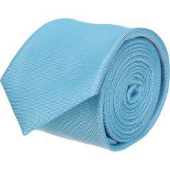 Krawaty męskie: krawat platinum turkus classic 202