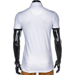 Koszulki polo: KOSZULKA MĘSKA POLO BEZ NADRUKU S912 – BIAŁA
