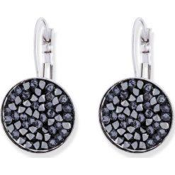 Kolczyki z kryształami Swarovskiego® bonprix srebrny kolor rodowany. Szare kolczyki damskie bonprix, srebrne. Za 89,99 zł.