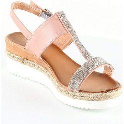 Sandały damskie: Sandały w kolorze jasnoróżowym