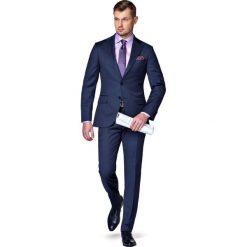 Garnitur Granatowy Lismore. Niebieskie garnitury marki LANCERTO, z tkaniny. W wyprzedaży za 999,90 zł.
