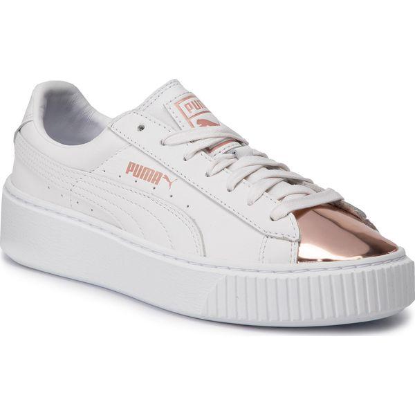 Sneakersy PUMA Basket Platform Metallic 366169 03 Puma WhiteRose Gold