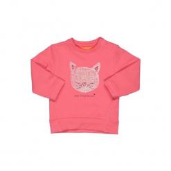 Staccato  Girls Bluza Sweatjshirt candy - Gr.Moda (6 - 24 miesięcy ). Różowe bluzy niemowlęce marki Staccato, z bawełny, z długim rękawem, długie. Za 35,00 zł.