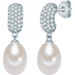 Srebrne kolczyki wkrętki z perłami i cyrkoniami. Szare kolczyki damskie Pearls Special, z cyrkonią, srebrne. W wyprzedaży za 136,95 zł.