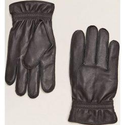 Mango Man - Rękawiczki Burg. Czarne rękawiczki męskie Mango Man, z materiału. Za 139,90 zł.