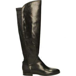 Kozaki ocieplane - 45808FY P NER. Czarne buty zimowe damskie marki Kazar, ze skóry, na wysokim obcasie. Za 339,00 zł.