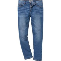 """Dżinsy ze stretchem Slim Fit Straight bonprix niebieski """"used"""". Niebieskie jeansy męskie marki bonprix. Za 109,99 zł."""