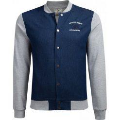 Bluza męska BLM604A - niebieski melanż - Outhorn. Niebieskie bejsbolówki męskie Outhorn, m, melanż, z bawełny. W wyprzedaży za 119,99 zł.