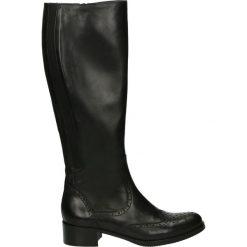 Kozaki - 1949 PEL NERO. Czarne buty zimowe damskie Venezia, ze skóry. Za 539,00 zł.