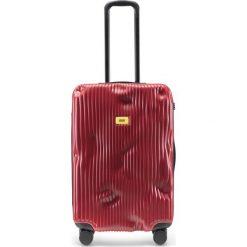 Walizka Stripe średnia Alfa Red. Czerwone walizki Crash Baggage, duże. Za 1225,00 zł.