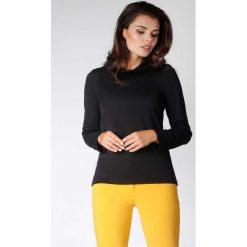 Czarna Klasyczna Dzianinowa Bluzka z Luźnym Golfem. Czarne bluzki longsleeves marki Molly.pl, l, z dzianiny, biznesowe, z golfem. W wyprzedaży za 92,91 zł.