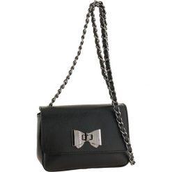 Torebki klasyczne damskie: Skórzana torebka w kolorze czarnym – 18 x 12 x 7 cm