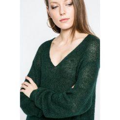 Hilfiger Denim - Sweter. Szare swetry klasyczne damskie marki Hilfiger Denim, m, z denimu. W wyprzedaży za 229,90 zł.