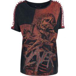 Slayer EMP Signature Collection Koszulka damska czarny/czerwony. Czarne bluzki asymetryczne Slayer, m, z aplikacjami, z dekoltem na plecach. Za 94,90 zł.