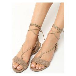 Rzymianki damskie: Beżowe Sandały Tuva