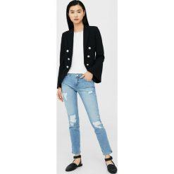 Mango - Jeansy. Szare jeansy damskie Mango, z bawełny. W wyprzedaży za 69,90 zł.