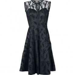 Voodoo Vixen Emerald Sukienka czarny. Czarne sukienki balowe Voodoo Vixen, na imprezę, l, w koronkowe wzory, z koronki, z kokardą. Za 324,90 zł.