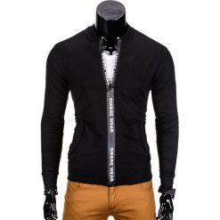 Bluzy męskie: BLUZA MĘSKA ROZPINANA BEZ KAPTURA B681 – CZARNA