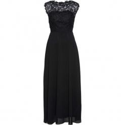Sukienka wieczorowa z koronką bonprix czarny. Czarne sukienki balowe marki bonprix, w koronkowe wzory, z koronki. Za 249,99 zł.