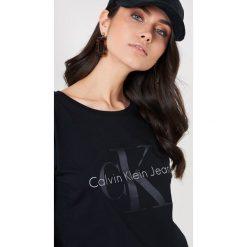 Calvin Klein T-shirt Teco 22 Crew Neck - Black. Czarne t-shirty damskie Calvin Klein. Za 202,95 zł.