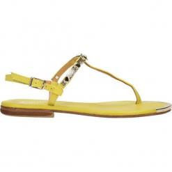 Sandały. Żółte sandały damskie Gino Rossi, ze skóry. Za 69,90 zł.