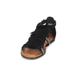 Sandały Minnetonka  MAUI. Czarne sandały trekkingowe damskie Minnetonka. Za 263,20 zł.
