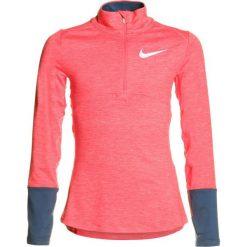 Nike Performance DRY Koszulka sportowa sea coral/navy/tropical pink/reflective silver. Niebieskie bluzki dziewczęce marki Nike Performance, z elastanu, z długim rękawem. Za 159,00 zł.