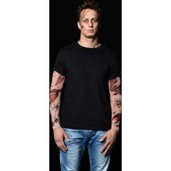 T-shirty męskie: Czarny t-shirt męski z tatuażami Bloody Spiders
