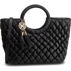 Torebka KAZAR - Sabrina 33092-01-00 Black. Czarne torebki klasyczne damskie Kazar, ze skóry, pikowane, z breloczkiem. Za 1099,00 zł.
