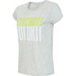 4f Koszulka damska H4L18-TSD007 szara r. L. Szare topy sportowe damskie marki 4f, l. Za 44,99 zł.