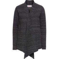 Bluzy damskie: Bluza rozpinana z długim rękawem bonprix czarno-biały melanż