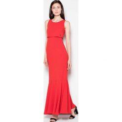 Czerwona Wieczorowa Maxi Sukienka z Nakładką. Czerwone długie sukienki marki Molly.pl, na imprezę, l, z tkaniny, eleganckie, na ramiączkach, dopasowane. Za 179,90 zł.