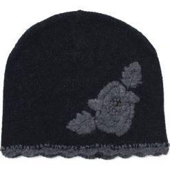 Czapki damskie: Art of Polo Czapka damska Haftowany kwiat czarna