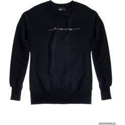 Bluza Damska CREWNECK OVER-ARM HARP. Czarne bluzy męskie rozpinane marki KIPSTA, m, z elastanu, z długim rękawem, na fitness i siłownię. Za 199,00 zł.