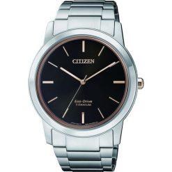 ZEGAREK CITIZEN Titanium AW2024-81E. Czarne zegarki męskie CITIZEN, ze stali. Za 980,00 zł.