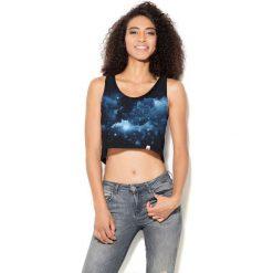 Colour Pleasure Koszulka damska CP-035 106 czarno-niebieska r. M-L. Fioletowe bluzki damskie marki Colour pleasure, uniwersalny. Za 64,14 zł.