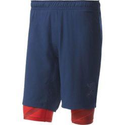 Spodenki i szorty męskie: Adidas Spodenki męskie Crazytrain Two-in-One Shorts granatowo-czerwone r. XL (BK6162)