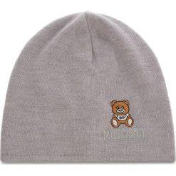 Czapka MOSCHINO - 65032 M1867 014. Szare czapki zimowe damskie MOSCHINO, z materiału. Za 389,00 zł.