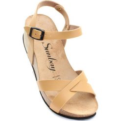 """Rzymianki damskie: Sandały """"Pivoine"""" w kolorze beżowym"""