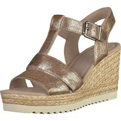Sandały damskie: Skórzane sandały w kolorze miedzianym